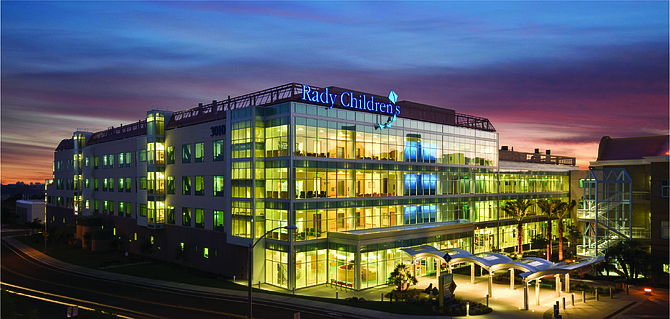The hospital was renamed after the Radys in 2006 following a $60 million gift. Photo courtesy of Rady Children's Hospital.