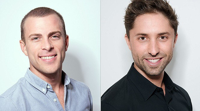 TaskUs co-founders Bryce Maddock (left) and Jaspar Weir (right)