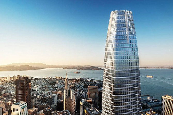 Salesforce Tower in San Francisco is among the projects Brummitt Energy worked on in collaboration with the company it's joining, Stok of San Francisco. Photo courtesy of Stok.