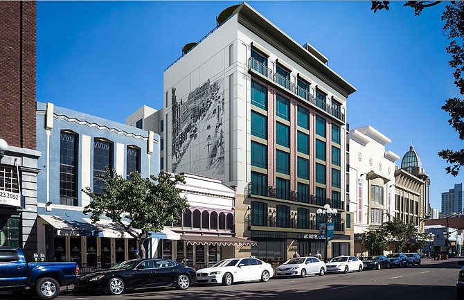 The Briad Group has chosen the heart of the Gaslamp Quarter for its hotel. Photo courtesy of The Briad Group.