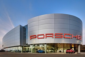 A new Porsche dealership in Carlsbad was one of the challenging projects done by Dempsey Construction Co. Photo courtesy of Dempsey Construction Co.