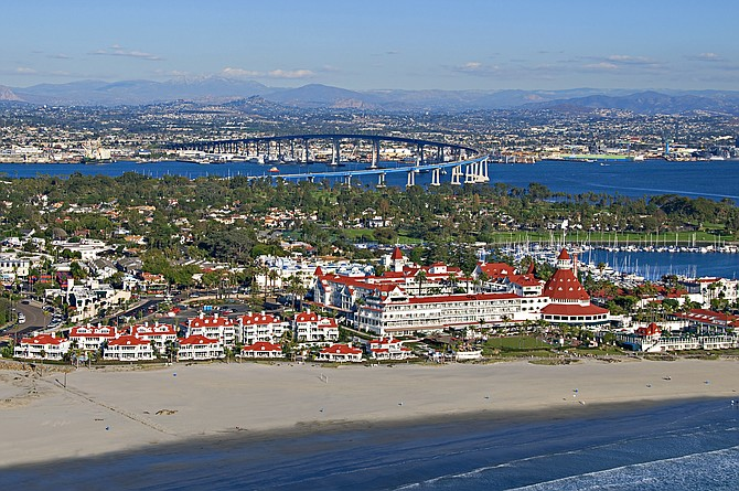 Hotel del Coronado, one of San Diego's grand dame hotels, features 757 rooms and 214 suites. Photo courtesy of Hotel del Coronado.