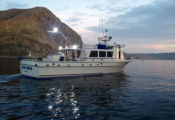 Paul Fischer's boat, the Outer Limits, fishes near Catalina. Photo courtesy of Paul Fischer.