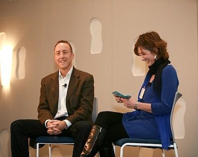 Tiffany Montgomery with former Pacific Sunwear of California Inc. CEO Gary Schoenfeld.