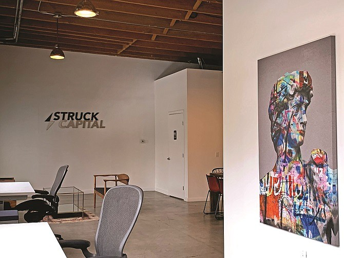 Struck Capital's Santa Monica office is positioned to support startups.