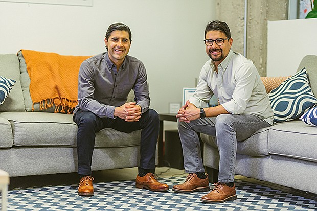 Camino founders Kenny Salas (left) and Sean Salas (right) at the company's Downtown office.