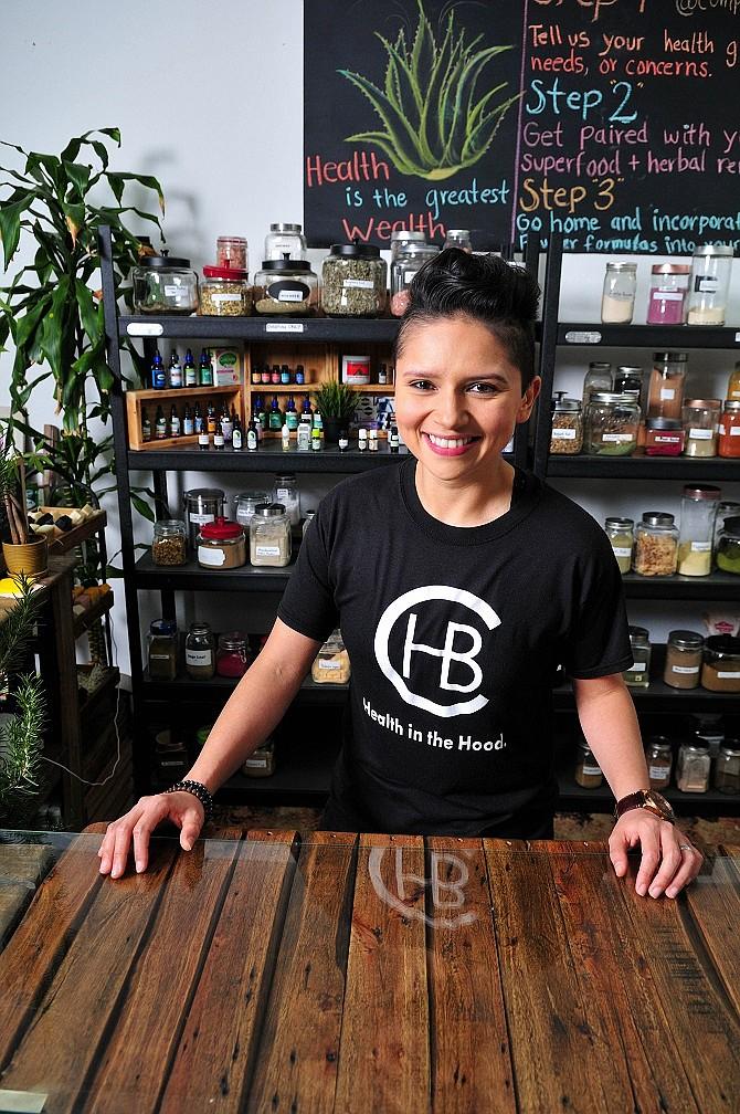 Daniela Solorio, owner of Compton Health Bar