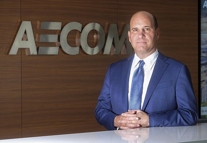 Michael Burke, CEO of AECOM, who is our Business Hall of Fame inductee for 2018...  (Photo by Ringo Chiu).