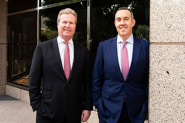 RBC Wealth Management's new downtown team features former UBS Group veterans Roger Stephens (left) and Daniel Rothenberg (right)