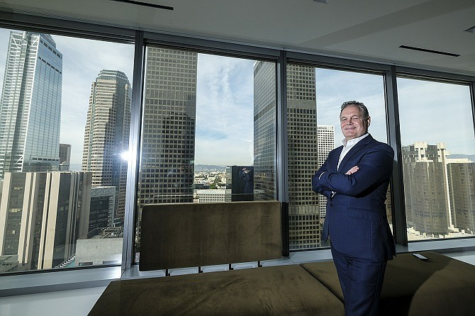 Jerry Neuman partner of DLA Piper in downtown Los Angeles. (Photo by Ringo Chiu).