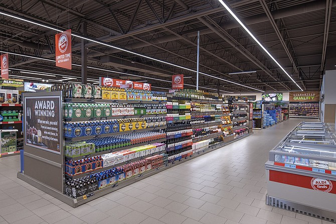 Aldi's streamlined stores featuring only four or five aisles make it easier to find products than at the major grocery chains. Photo courtesy of Aldi.