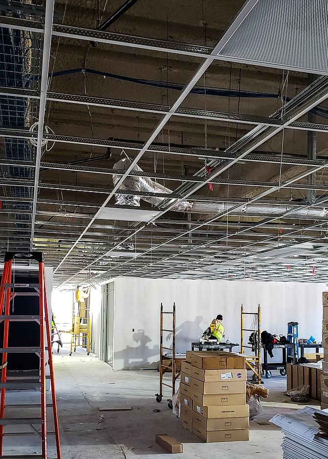 Office renovations are keeping Bingham Construction busy. Photo courtesy of Bingham Construction.