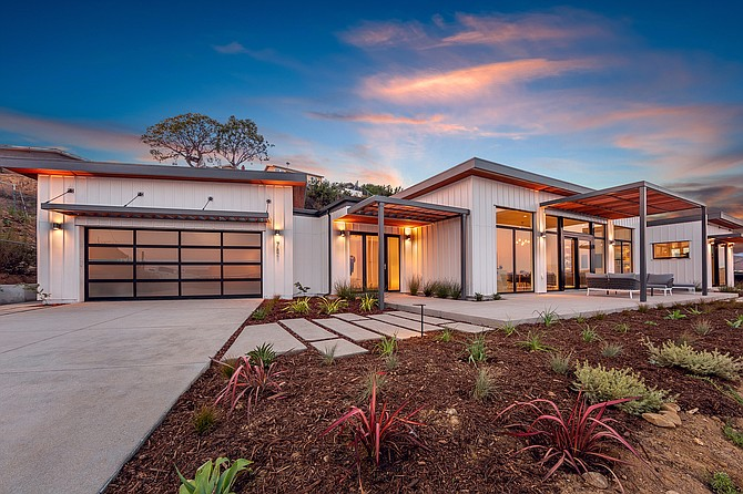 A Ventura modular home made by Dvele based in La Jolla is listed at $1.3 million. In March, Crescent Real Estate pumped $14 million into the venture. Photo courtesy of Dvele