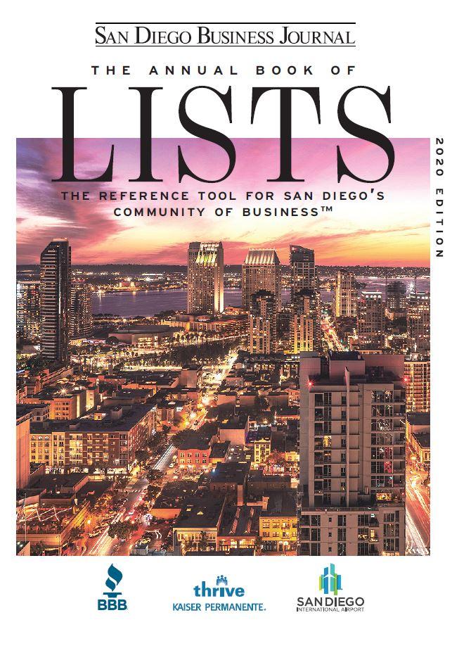Sdbj Book Of Lists San Go Business