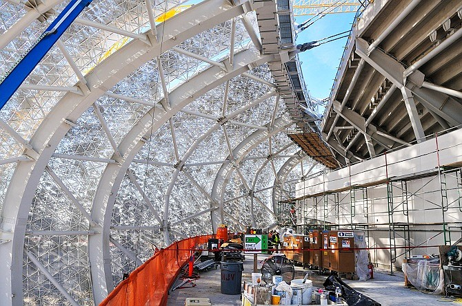 New NFL Stadium under construction (interior)