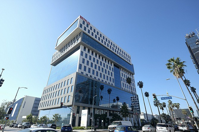 Netflix at 5808 Sunset Blvd., Los Angeles. (Photo by Ringo Chiu).