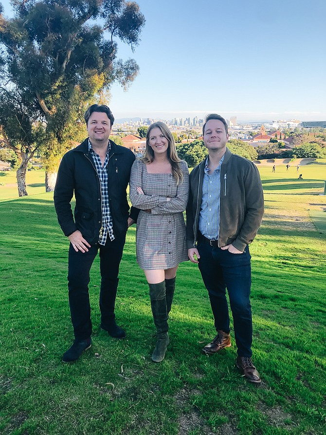 Luke Mahoney and Laura Johnson, founders of You & Yours Distilling Co. along with partners John Levan and Oliver Mahoney, not pictured, are the newest operators of Point Loma's The Loma Club. Photos courtesy of Johnson, Mahoney & Levan.