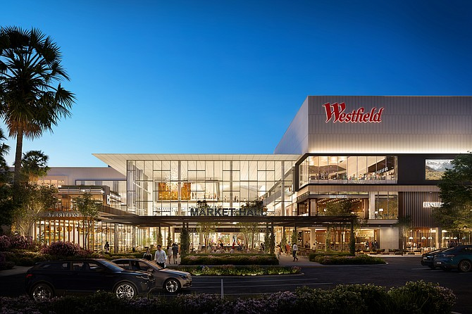 Rendering of redevelopment project at Westfield Topanga shopping center in Woodland Hills.