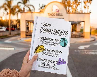 Taco Bell outlines commitments for 2020 and beyond.