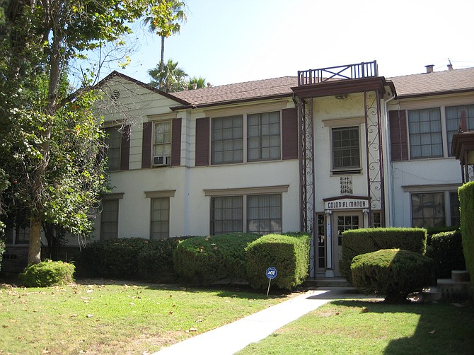 Colonial Manor Apartments in Toluca Lake.