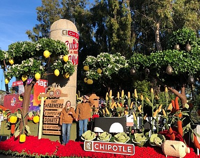 Chipotle 2020 Rose Parade Float