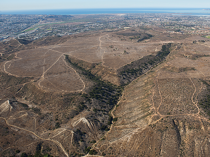 Otay Mesa has that rare commodity in San Diego, land. The development would include nearly 40 acres of parks, more than 20 acres of trails and 105 acres of surrounding open space. Photo courtesy of Pardee Homes.