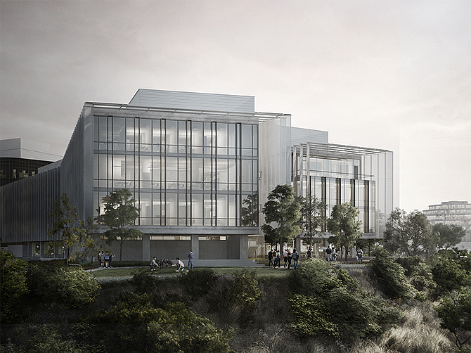 Franklin Antonio Hall will accommodate UC San Diego's rapidly growing Jacobs School of Engineering. Rendering courtesy of Perkins & Will.