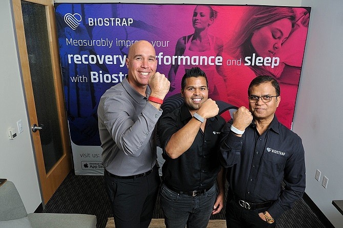 (left to right) Elias Arjan, VP of Strategic Development, Sameer Sontakey, CEO/Co-Founder, Dilip Sontakey, Chief Technology Officer, BioStrap
