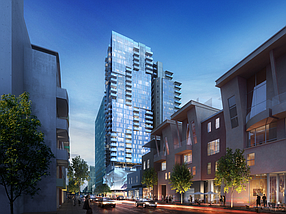 Forge Development Partners plans to build a 33 story apartment tower in Little Italy. Rendering courtesy of Forge Development Partners.