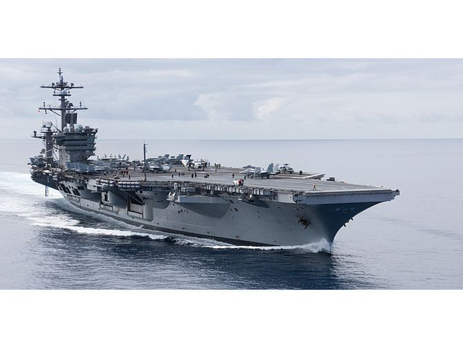The USS Carl Vinson will be returning to San Diego after repairs in Washington state. Photo courtesy of U.S. Navy.