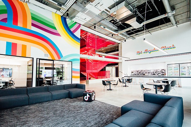 The interior of TikTok's office in Culver City.