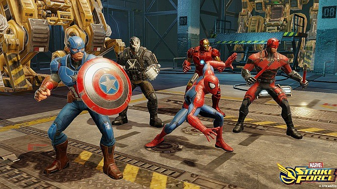 A still from Marvel Strike Force, which is developed by Playa Vista-based FoxNext Games.