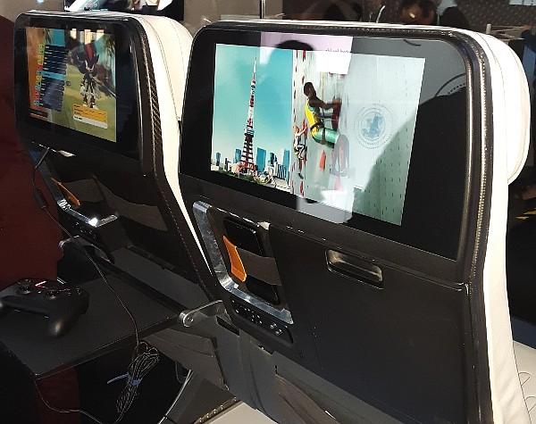 Panasonic Avionics display at CEO