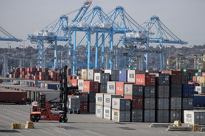 Traffic at the Port of Los Angeles fell 17% in December 2019 from a year earlier.