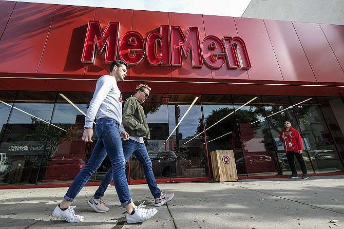The Beverly Hills MedMen store at 110 S. Robertson Blvd. is one of 33 U.S. locations. The company launched a delivery service in 2020.