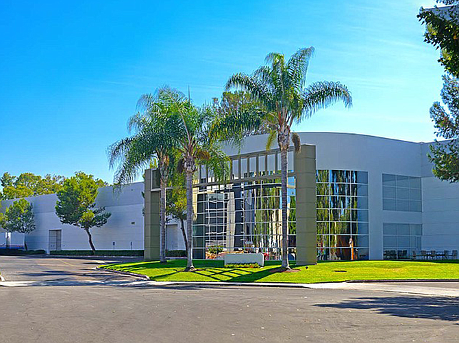 Photo courtesy of Colliers International. This Sorrento Valley industrial building at 10015 Waples Court sold for $21.3 million in 2019.