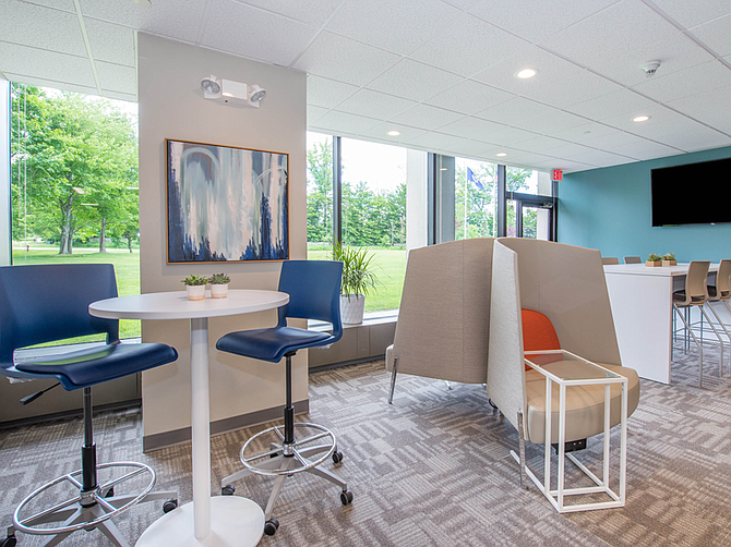 Photo courtesy of Office Evolution. Office Evolution offers flexible workspaces.