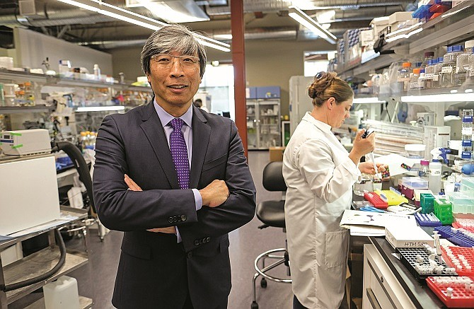Dr. Patrick Soon-Shiong at the Nant headquarters.