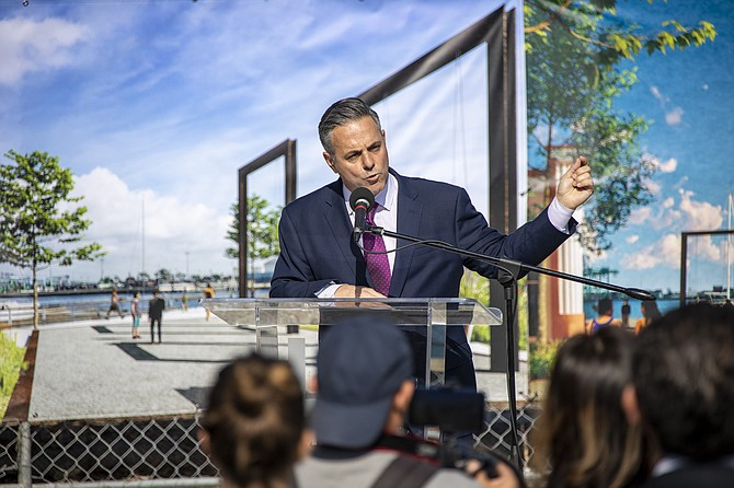 "City Councilman Joe Buscaino said ""it's been a long road"" to launch the San Pedro redevelopment."