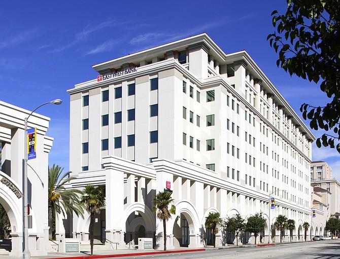East West Bank Bancorp's Pasadena Headquarters.