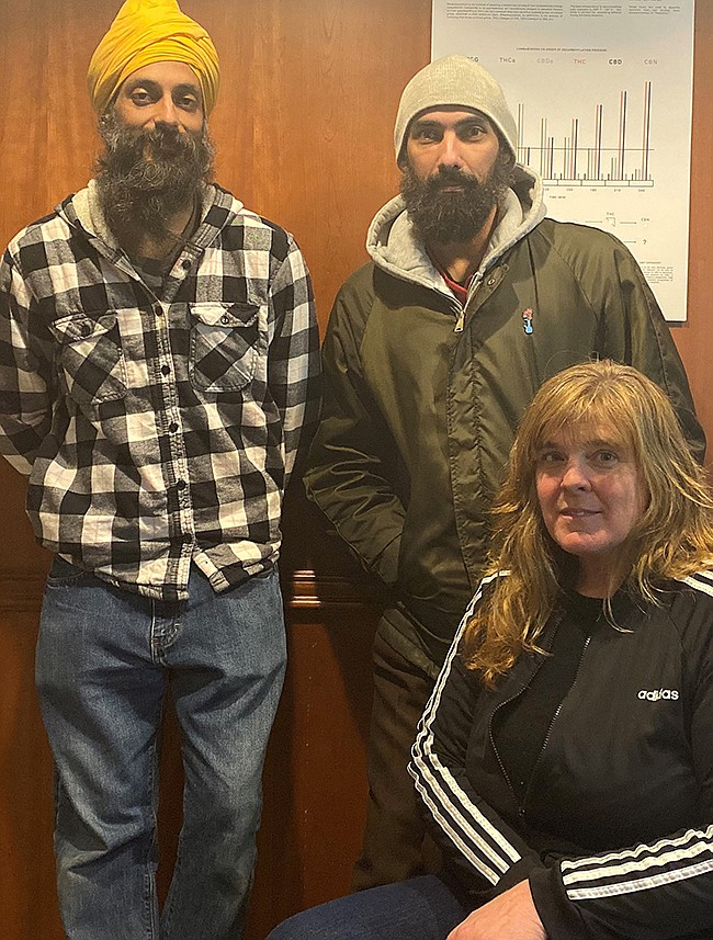 (Left to right) People's Kush founder Ishar Dhaliwal, compliance manager Sarah K. Clanton and compliance manager Nicholas Glass.