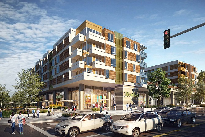 Rendering of redeveloped IMT Sunkist project in Sherman Oaks.