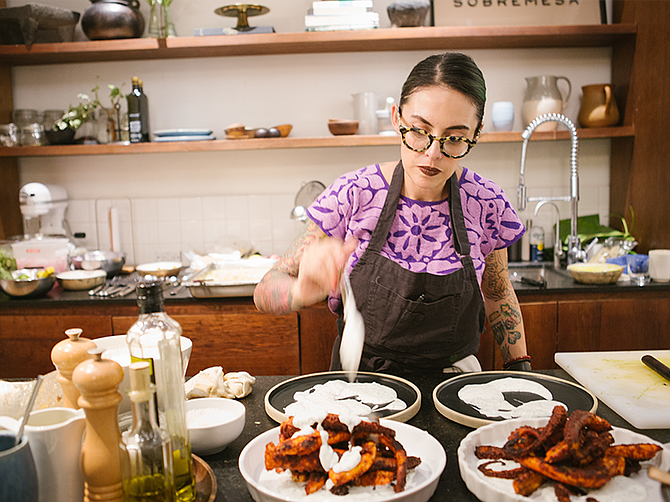 Photo by Antonio Diaz de Sandi. Claudette Zepeda has been named the offricial chef for Dinner With A View, a pop-up dinner experience taking place in San Diego February 6 through March 8.