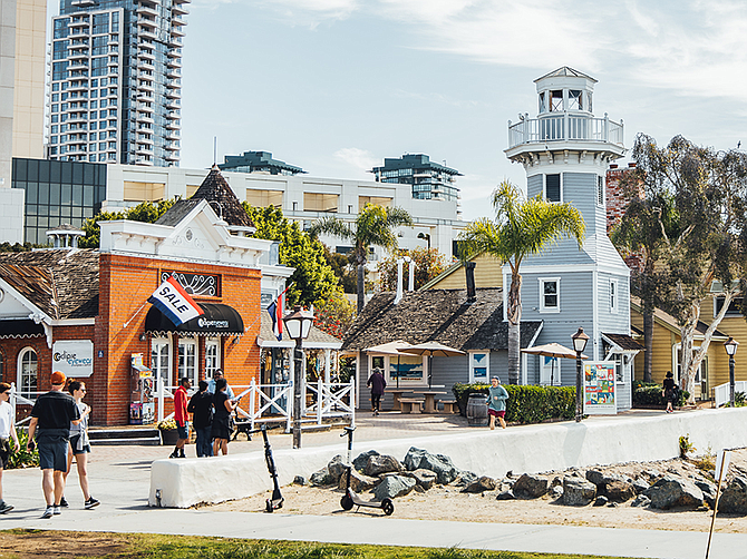 Photo courtesy of Port of San Diego. The Port of San Diego continues to energize Seaport Village through site enhancements and operational improvements.