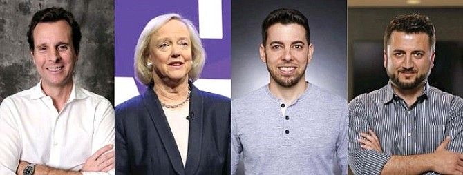 Ring's Jamie Siminoff, Quibi's Meg Whitman, Riot Games' Scott Gelb and ServiceTitan's Vahe Kuzoyan.