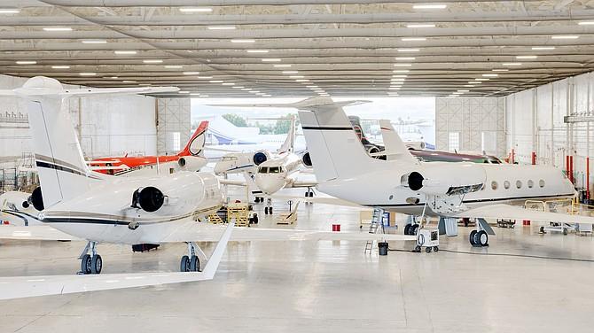 Clay Lacy hangar at Van Nuys Airport.