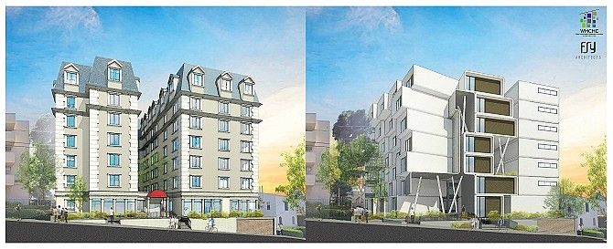 Two designs are proposed for the Wetherly Palms.