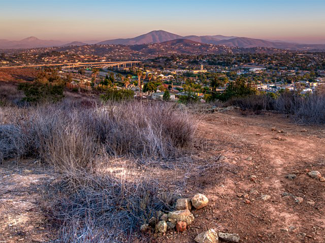 Photo courtesy of the Phair Co. Homeowners will be able to see the Coronado Islands, Point Loma, the Cuyamaca Mountains and Table Top Mountain in Mexico, and a steel T-Rex.