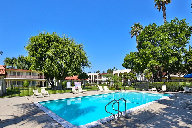 The 9-acre Four Trees property in Cerritos includes 11 buildings.