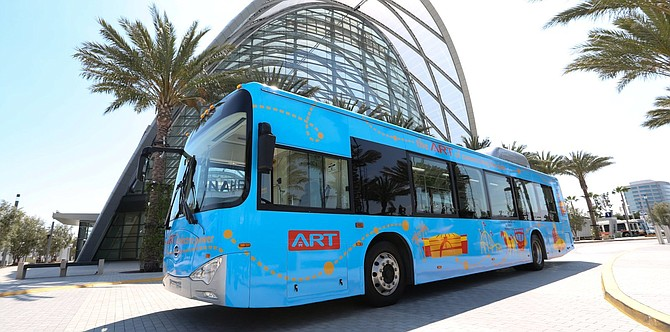 BYD Motors Inc., a downtown-based electric vehicle maker, delivered the first two electric buses of a 40-bus order to Anaheim, BYD announced Feb. 24, 2020.